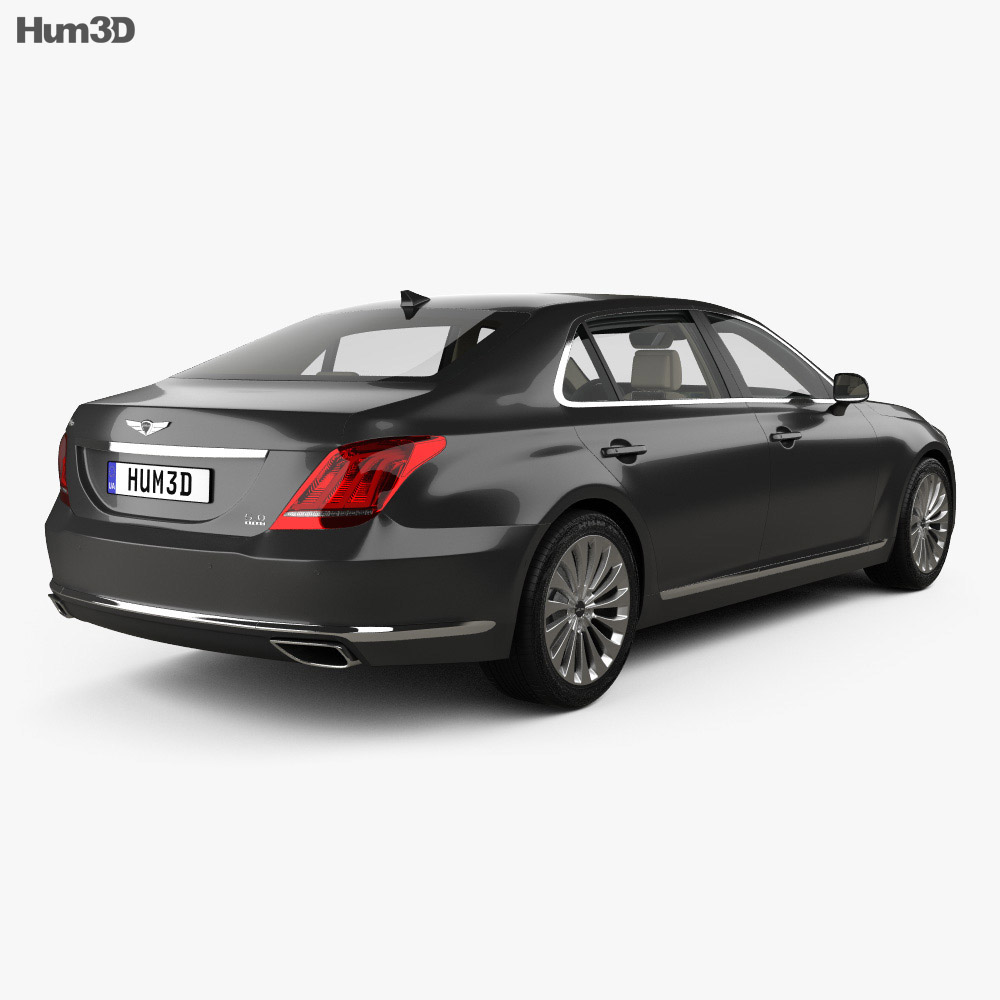Genesis G90 with HQ interior 2017 3d model