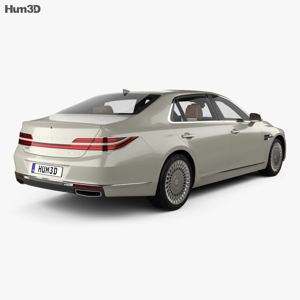 Genesis G90 with HQ interior 2020 3d model
