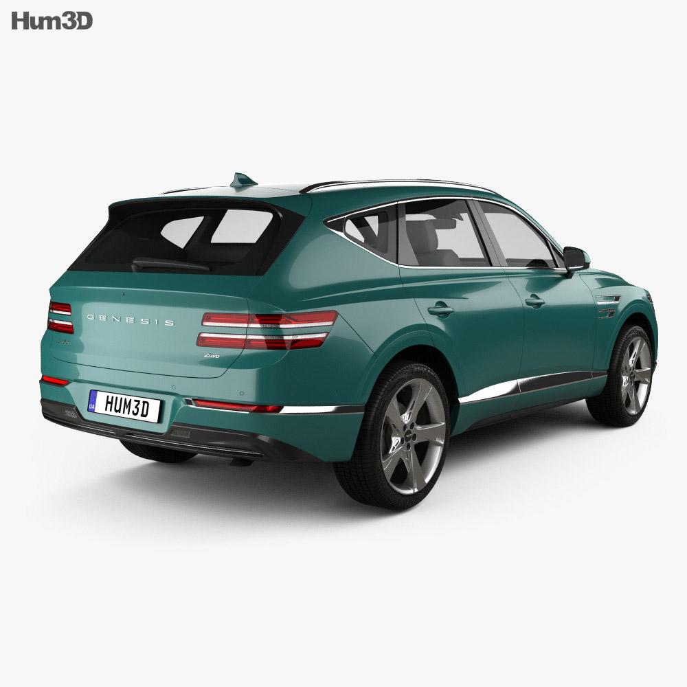 Genesis GV80 2020 3d model back view