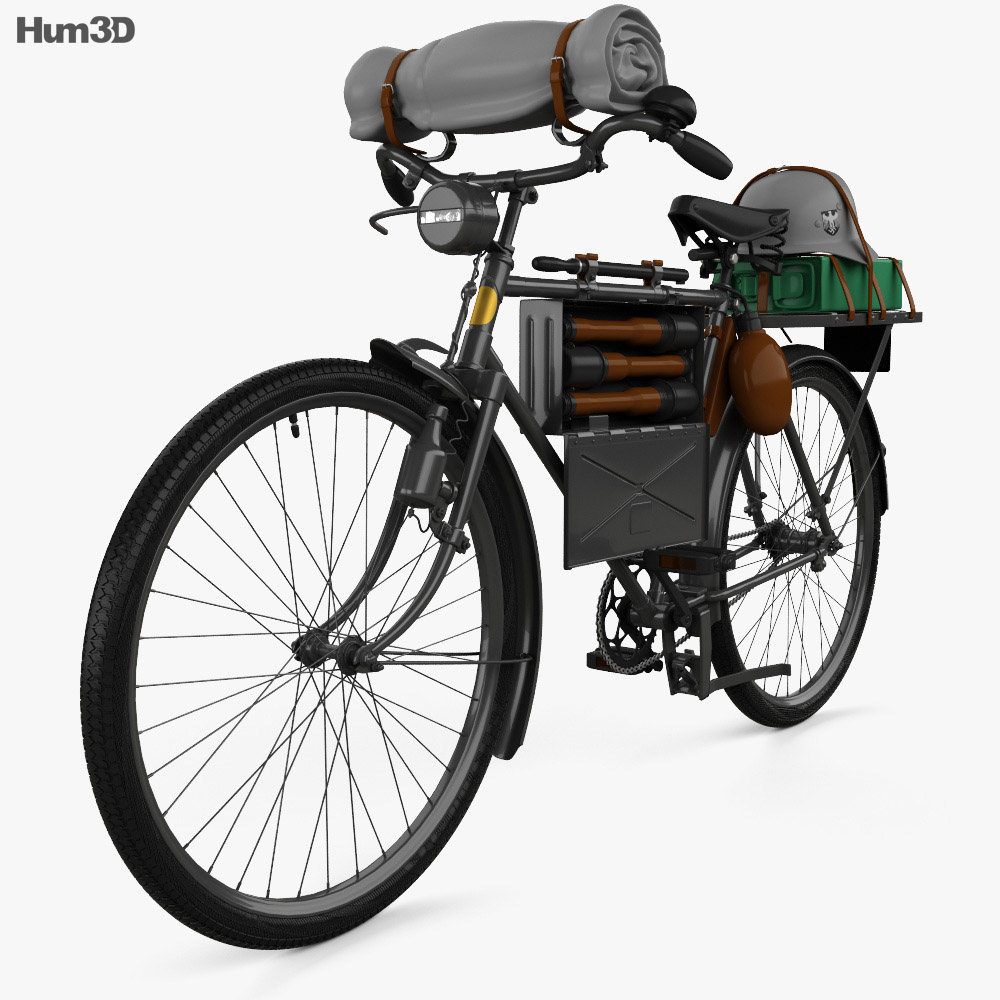 German Army M42 Truppenfahrrad 1941 3d model