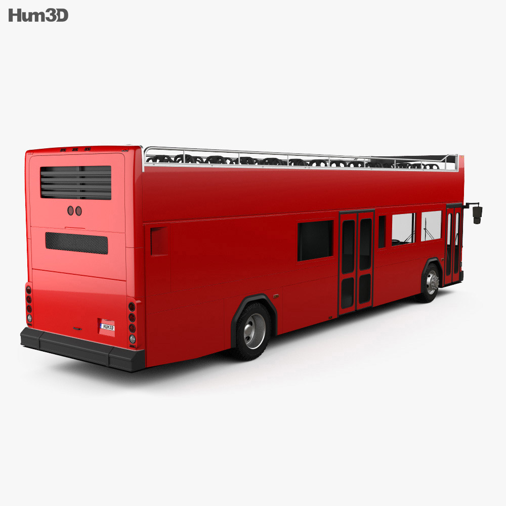 Gillig Low Floor Double Decker Bus 2012 3d model