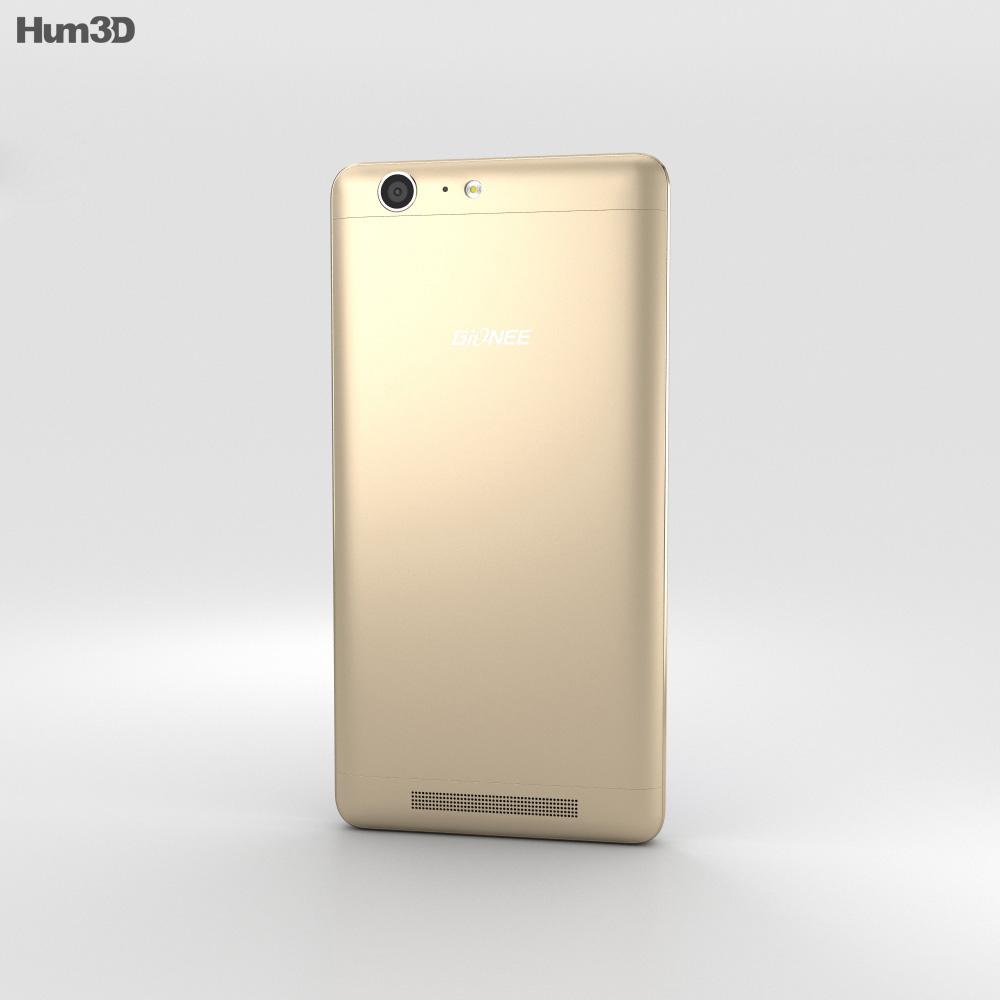 Gionee Marathon M5 Gold 3d model
