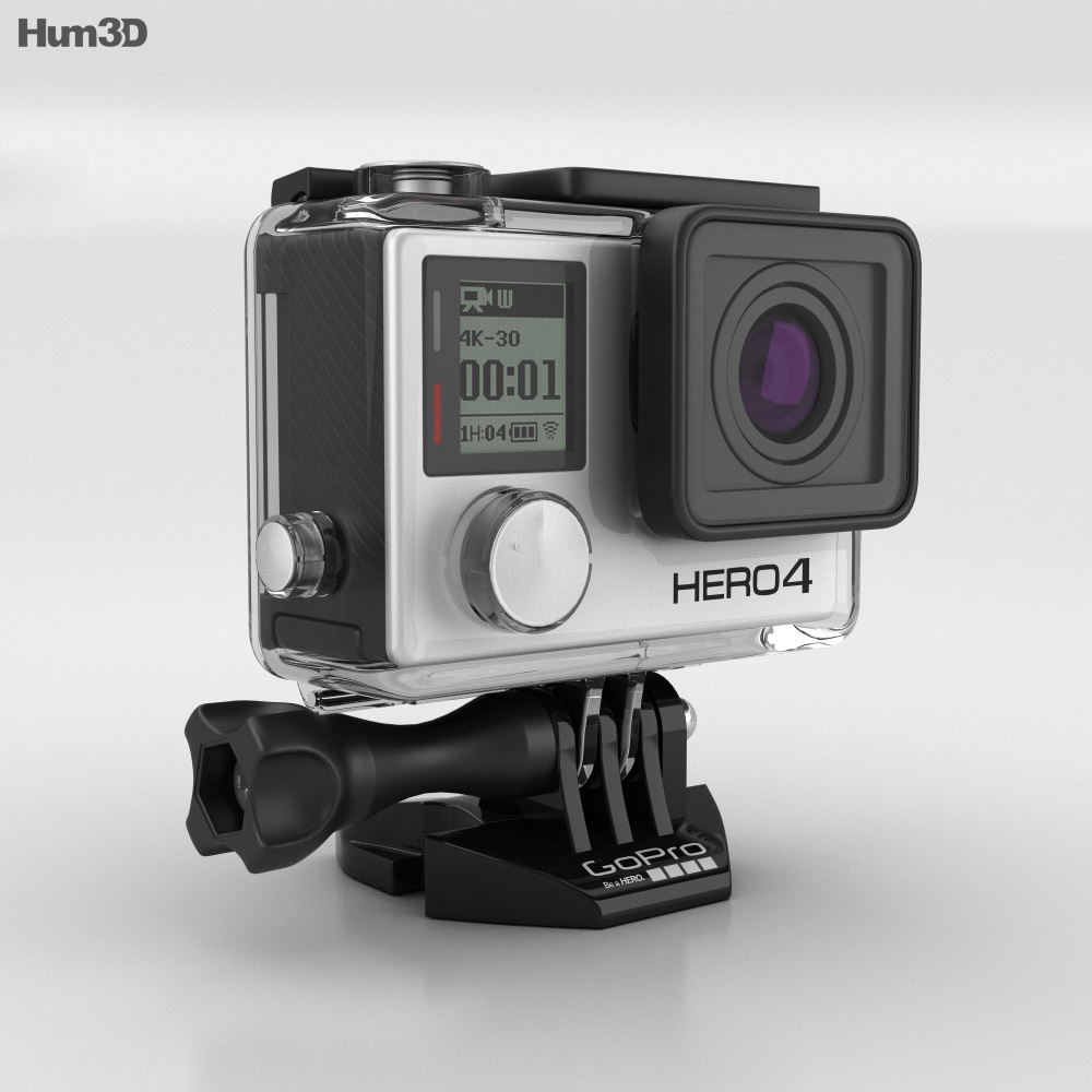 GoPro HERO4 Black 3d model