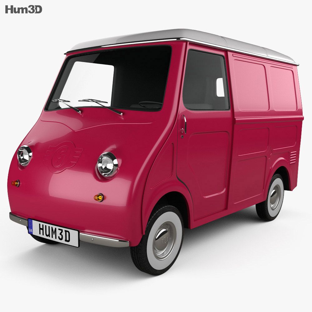 3D model of Goggomobil TL 250 (TL 400) Transporter Van 1956