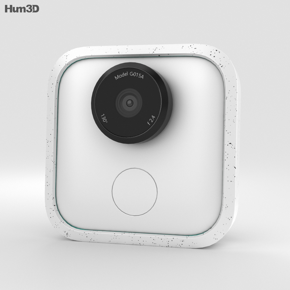 Google Clips White 3d model