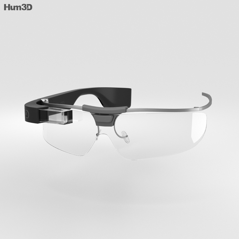 Google Glass Enterprise Edition Black 3d model