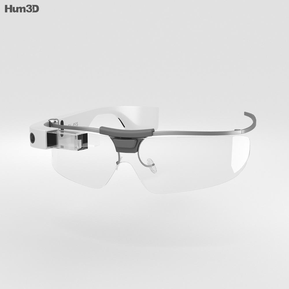 3D model of Google Glass Enterprise Edition White