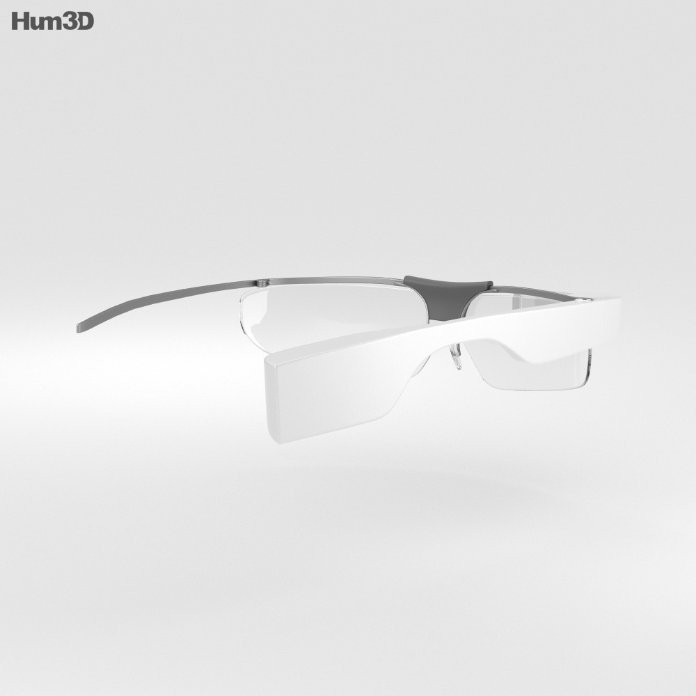 Google Glass Enterprise Edition White 3d model