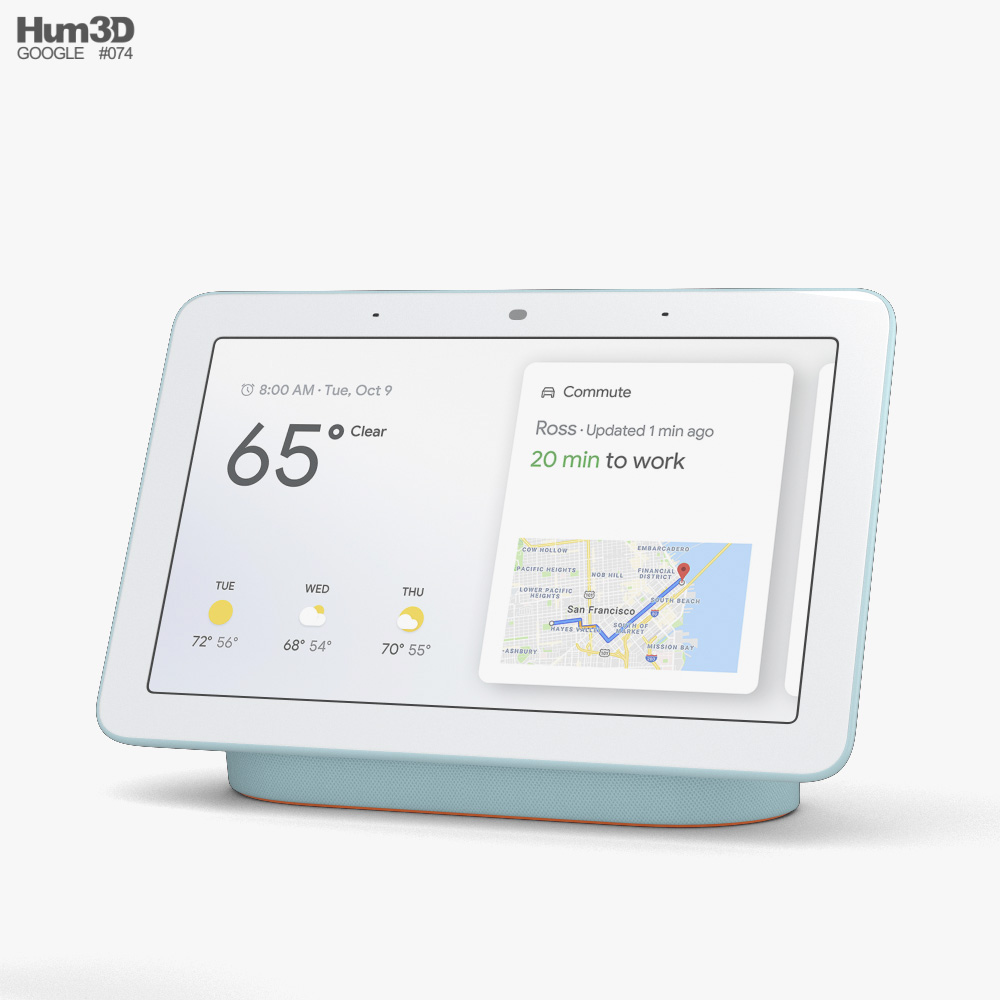 3D model of Google Nest Hub Aqua