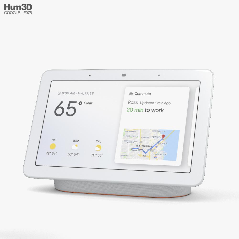 Google Nest Hub Chalk 3d model