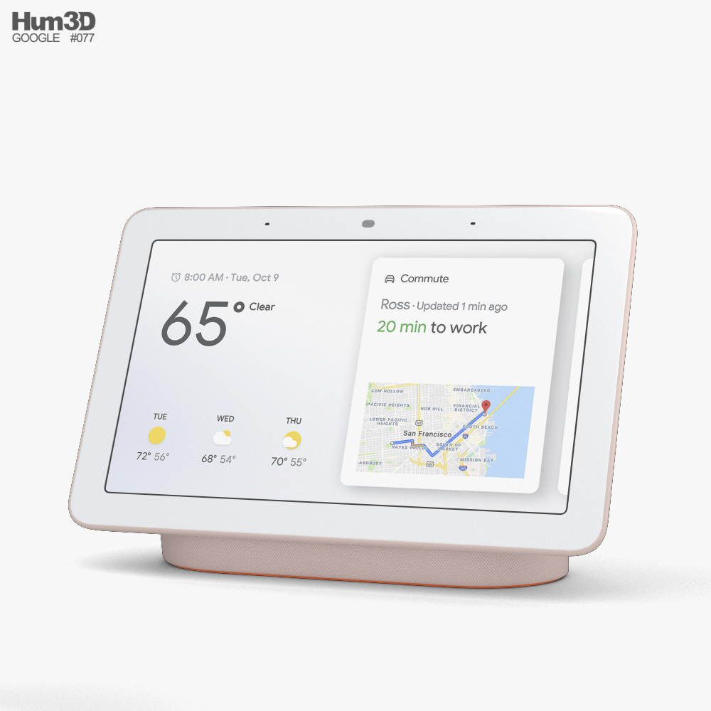 Google Nest Hub Sand 3d model