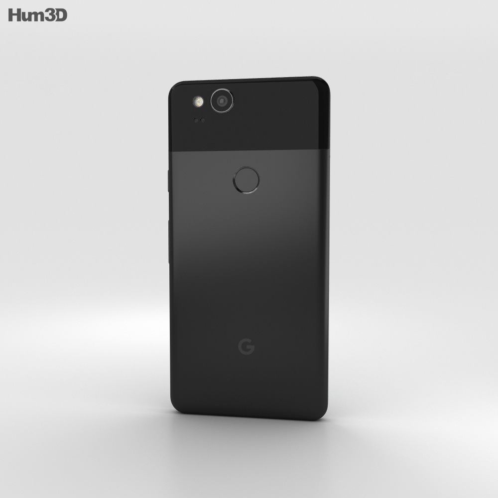 Google Pixel 2 Just Black 3d model