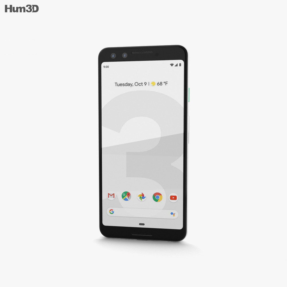 Google Pixel 3 Clearly White 3d model