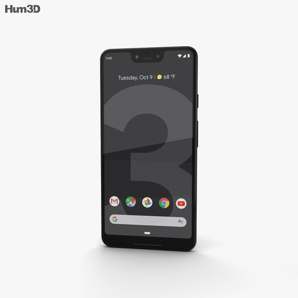 Google Pixel 3 XL Just Black 3d model