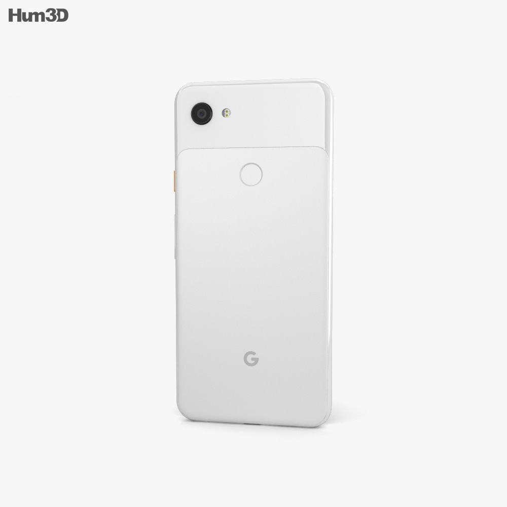 Google Pixel 3a Clearly White 3d model