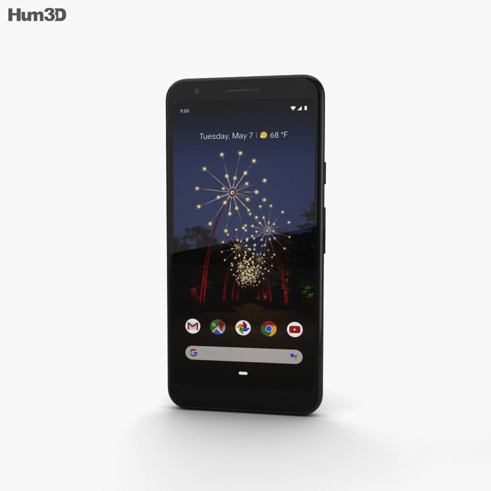 Google Pixel 3a XL Just Black 3d model