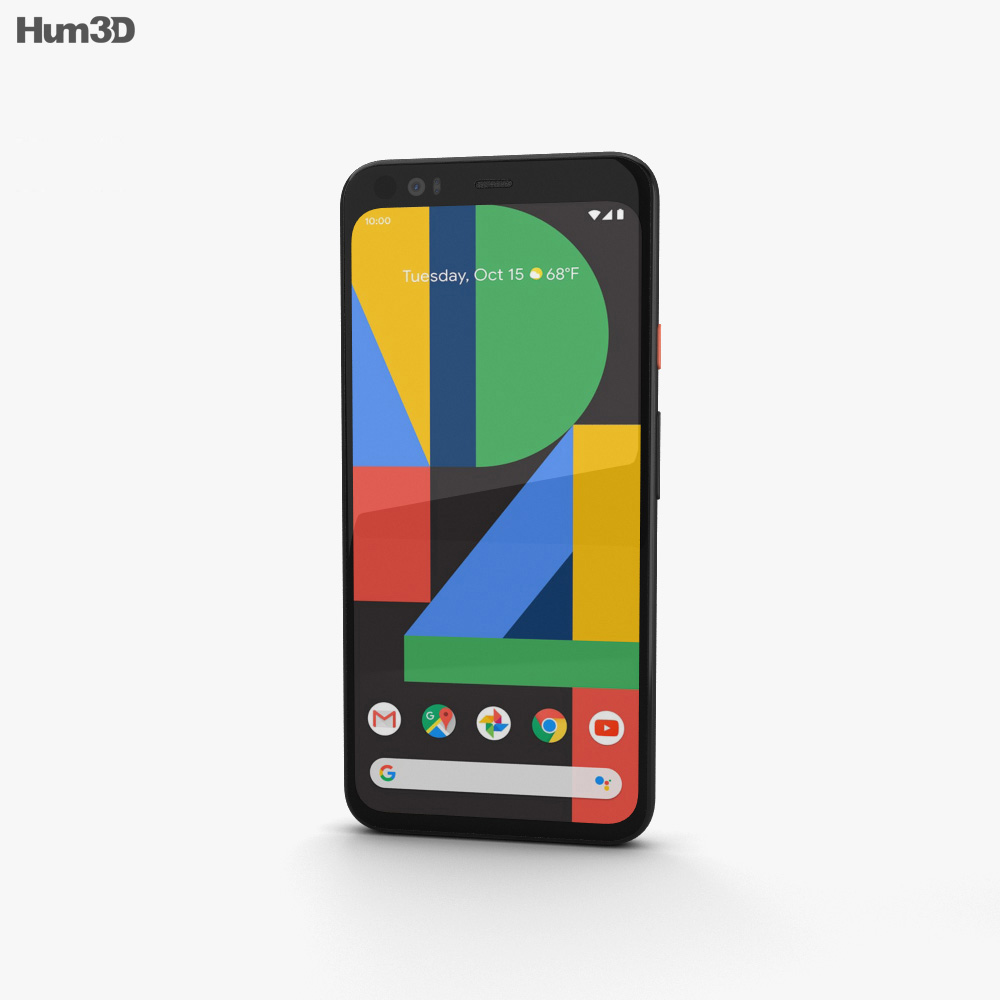 Google Pixel 4 Clearly White 3d model