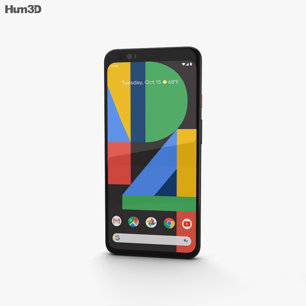 Google Pixel 4 XL Clearly White 3d model