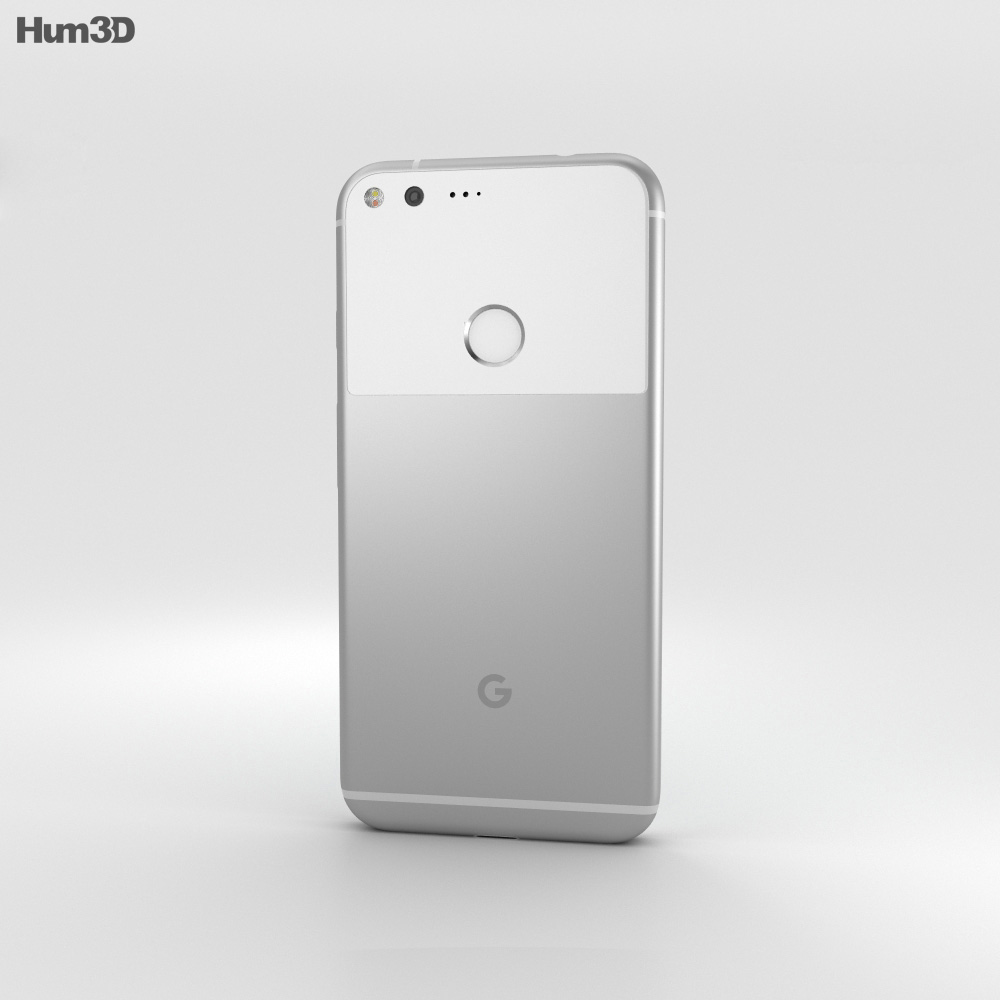 Google Pixel Quite Silver 3d model