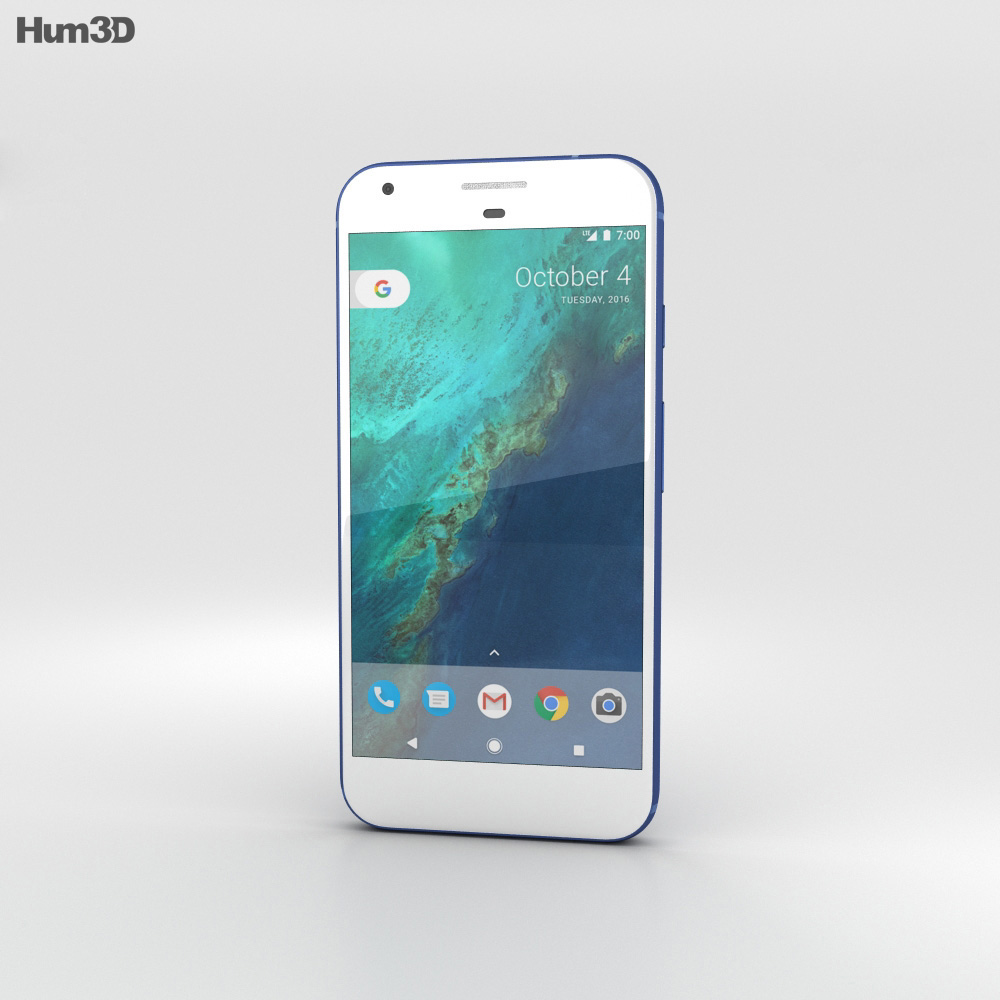 Google Pixel Really Blue 3d model