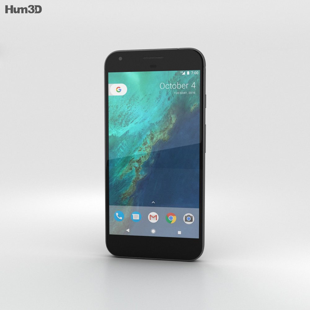 Google Pixel Very Black 3d model