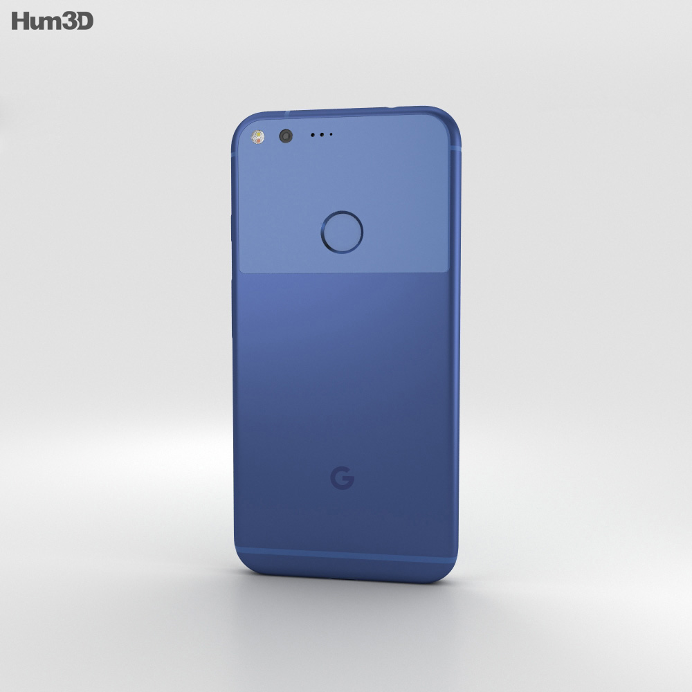 Google Pixel XL Really Blue 3d model