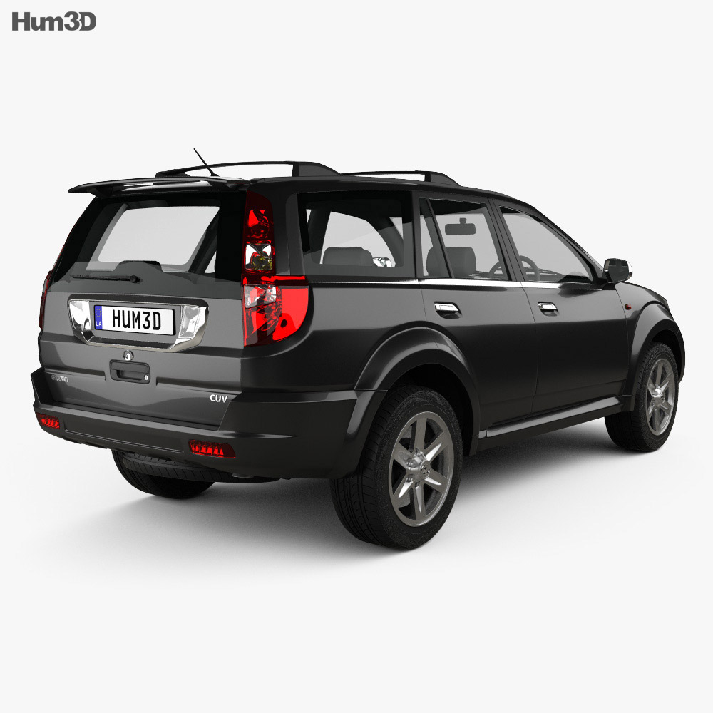 Great Wall Hover (Haval) H3 2010 3d model back view