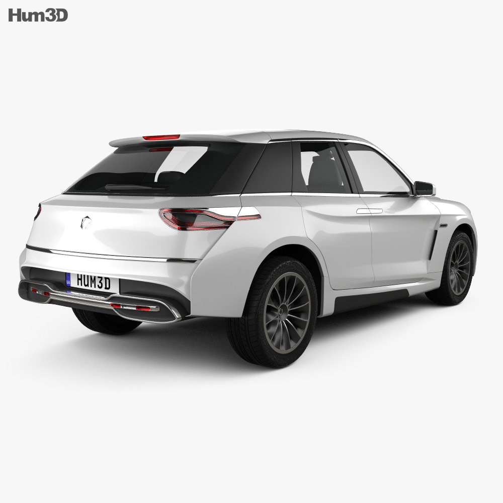 Grove Obsidian SUV 2020 3d model back view