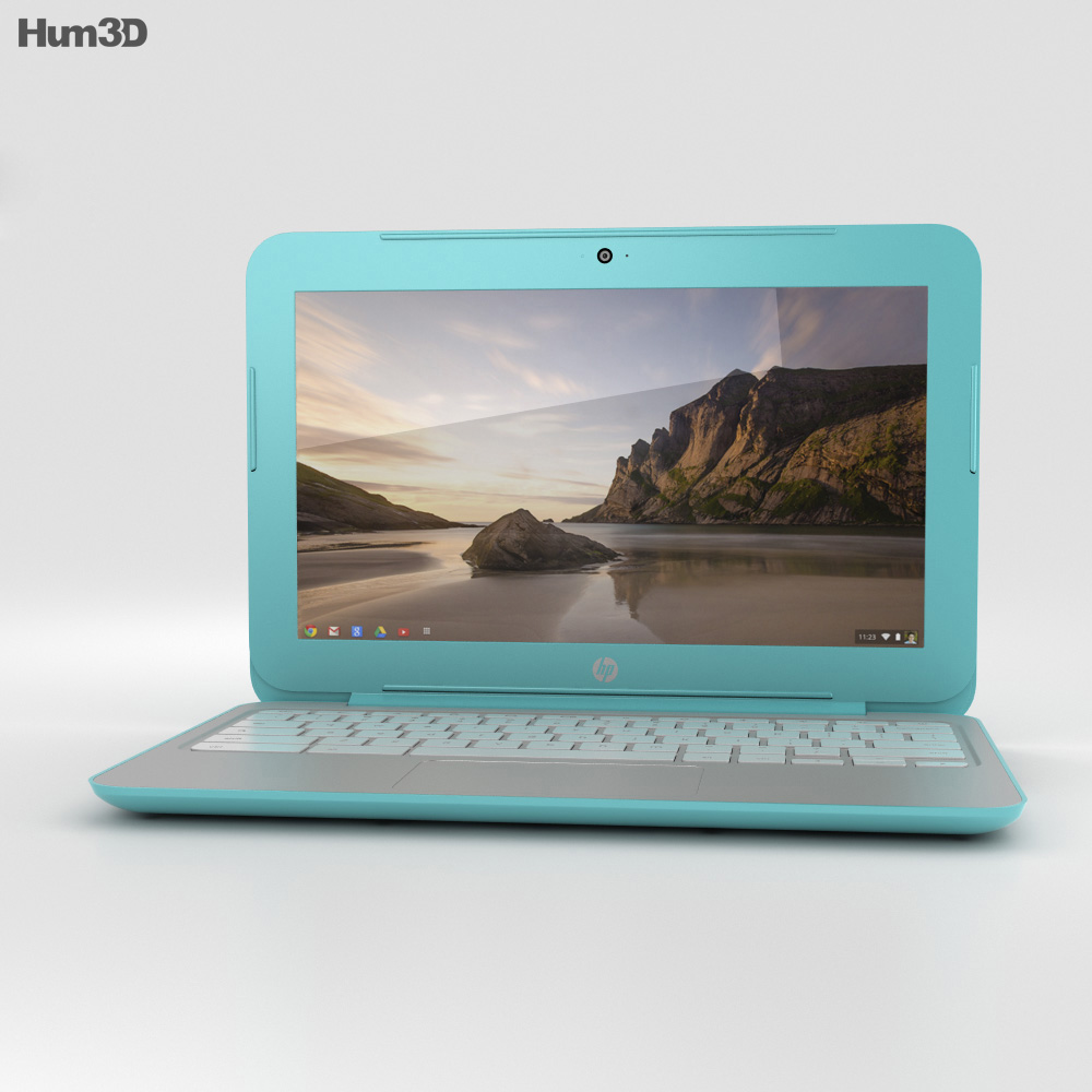 HP Chromebook 11 G3 Ocean Turquoise 3d model