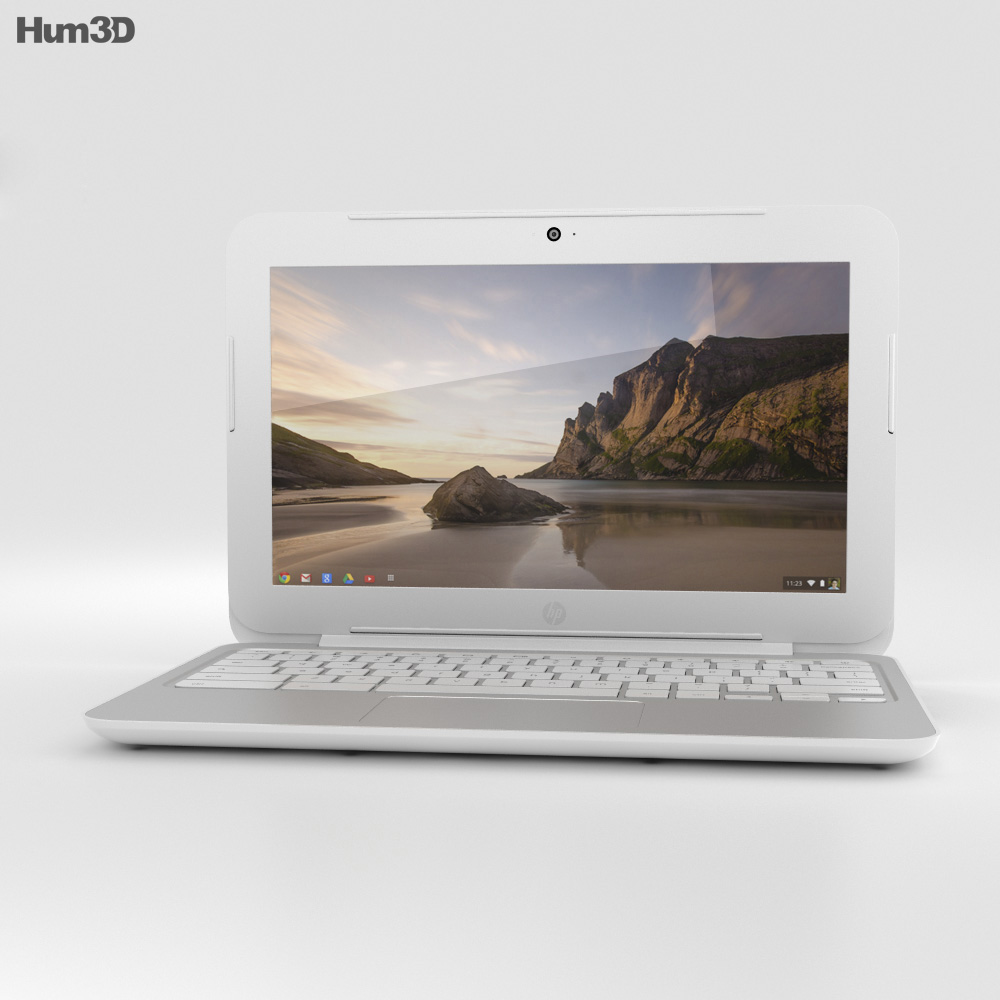 HP Chromebook 11 G3 Snow White 3d model