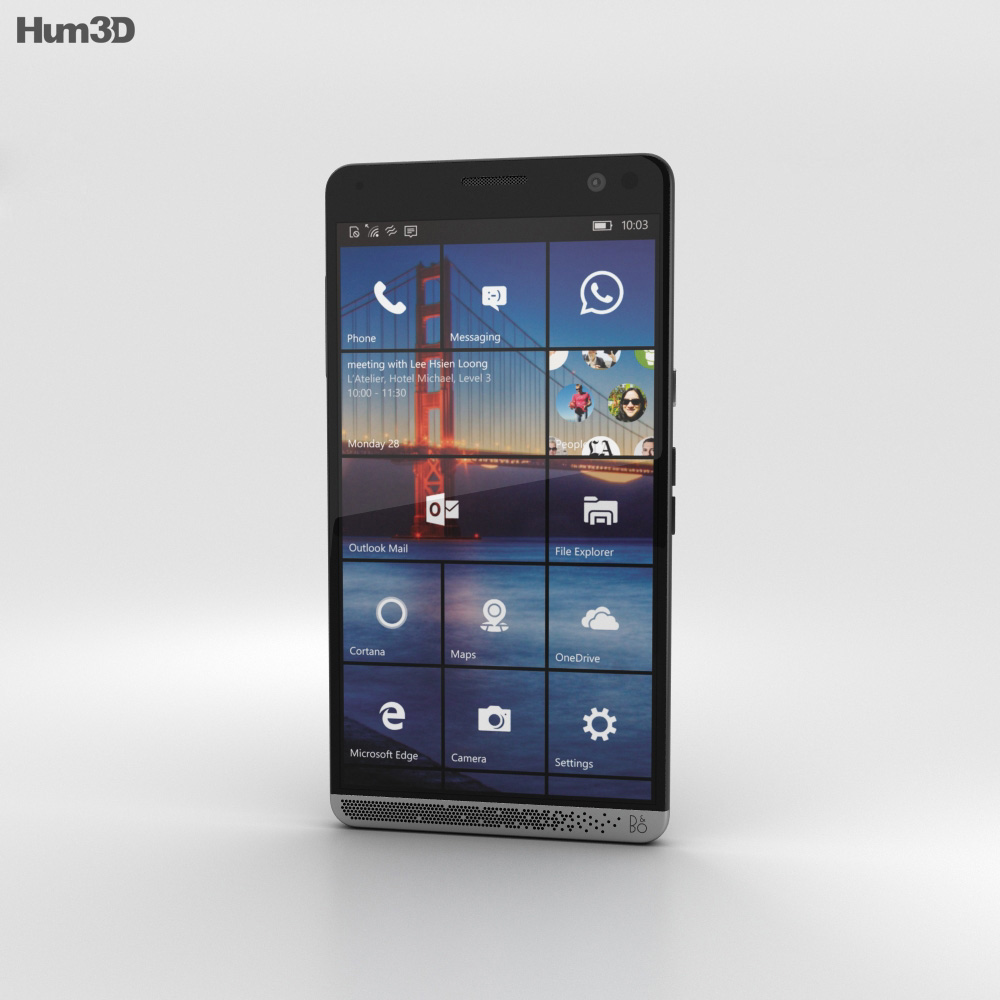 HP Elite x3 Black 3d model