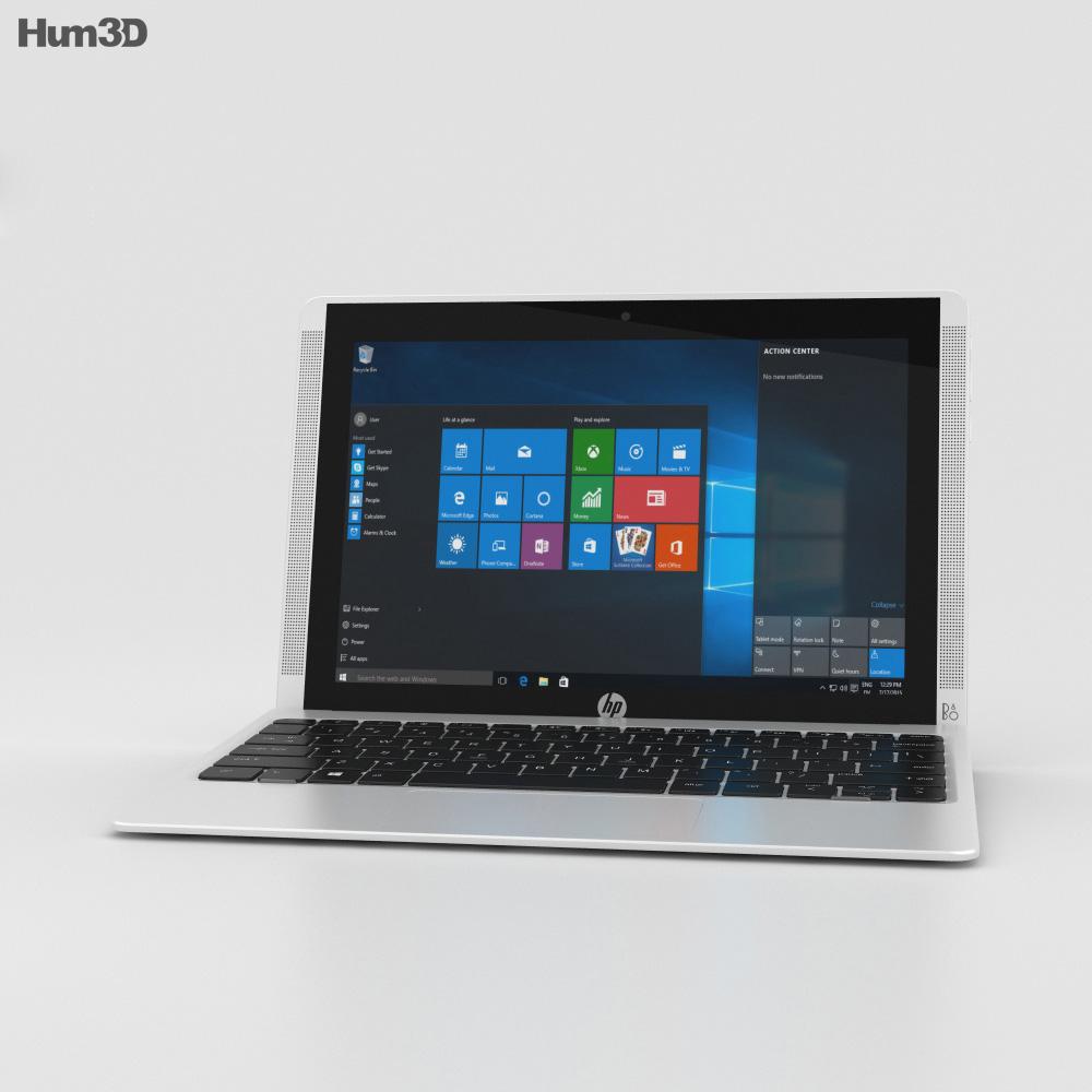 HP Pavilion x2 10t Blizzard White 3d model