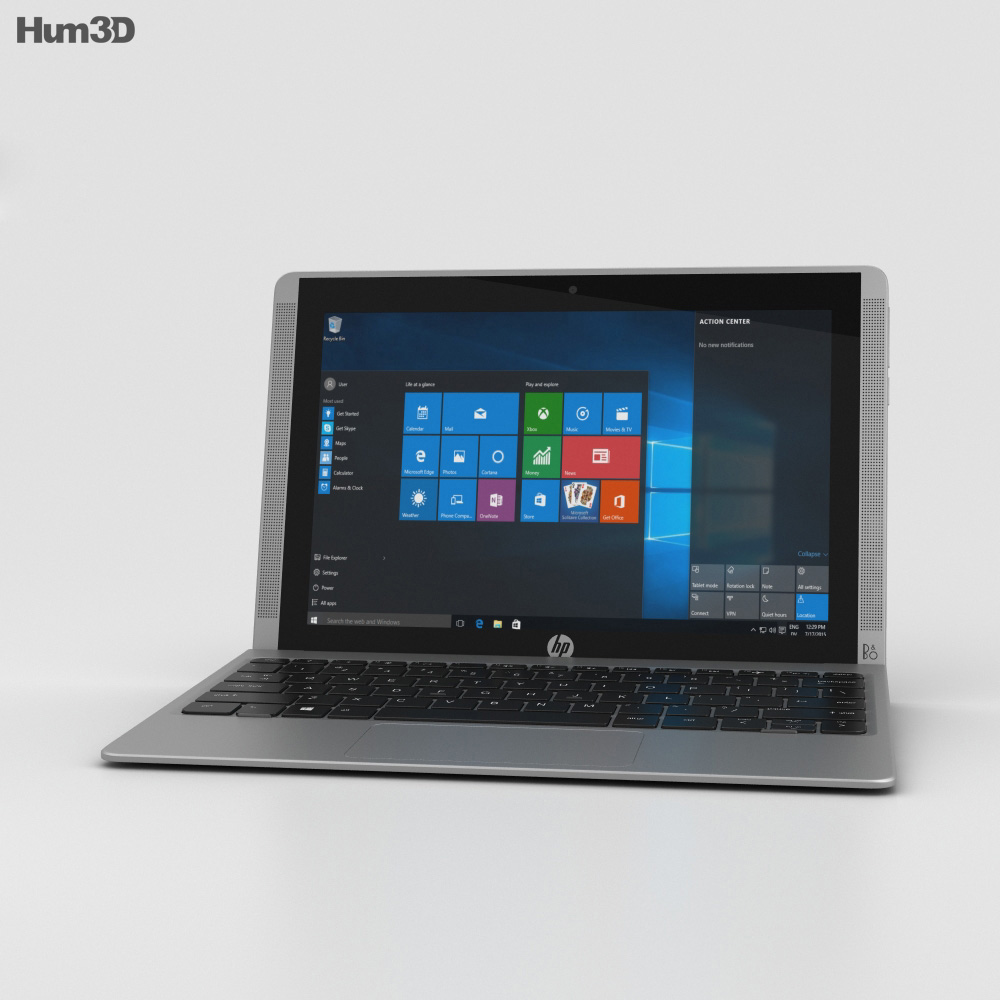 HP Pavilion x2 10t Turbo Silver 3d model