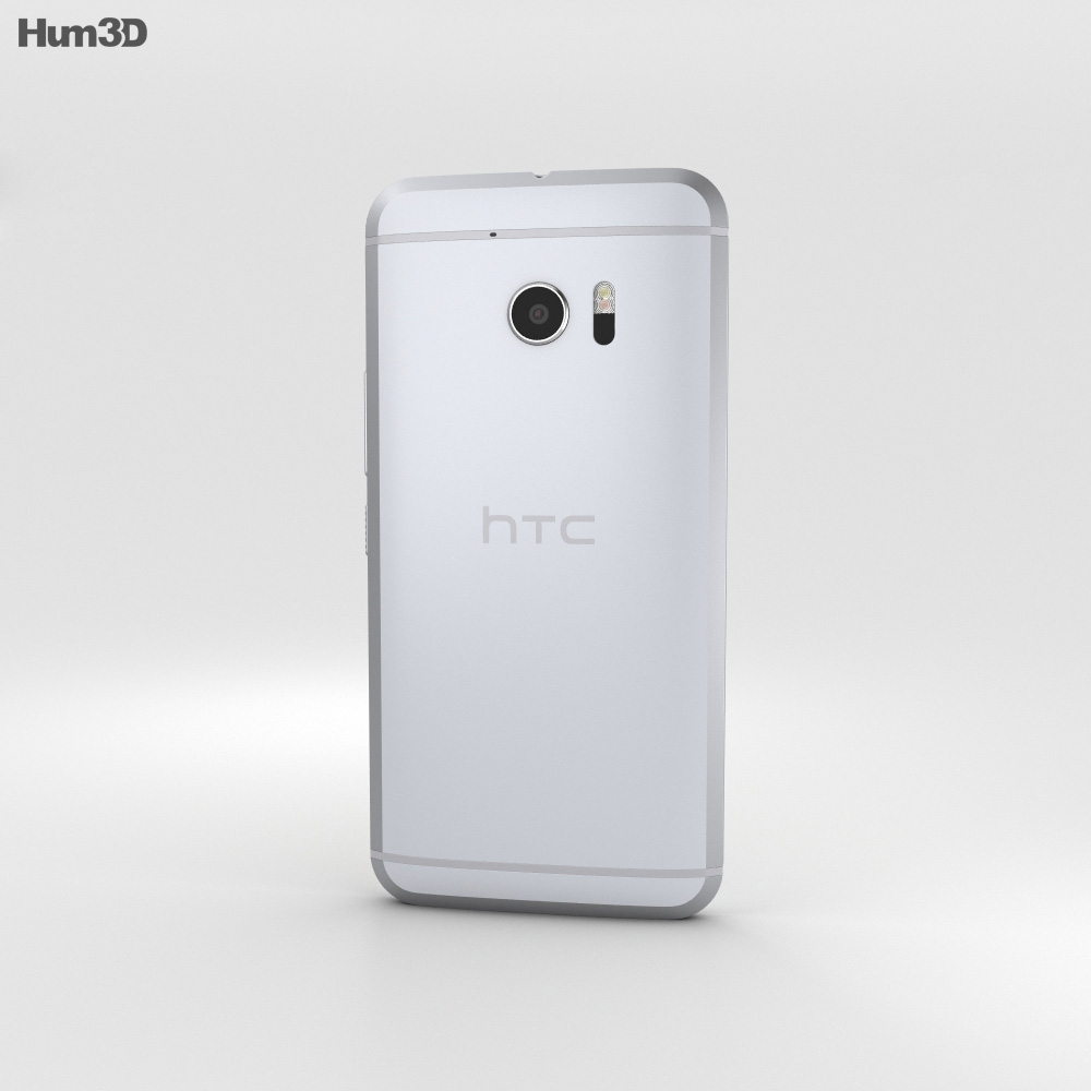 HTC 10 Glacier Silver (White Front) 3d model