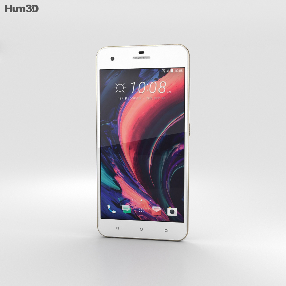 HTC Desire 10 Pro Polar White 3d model