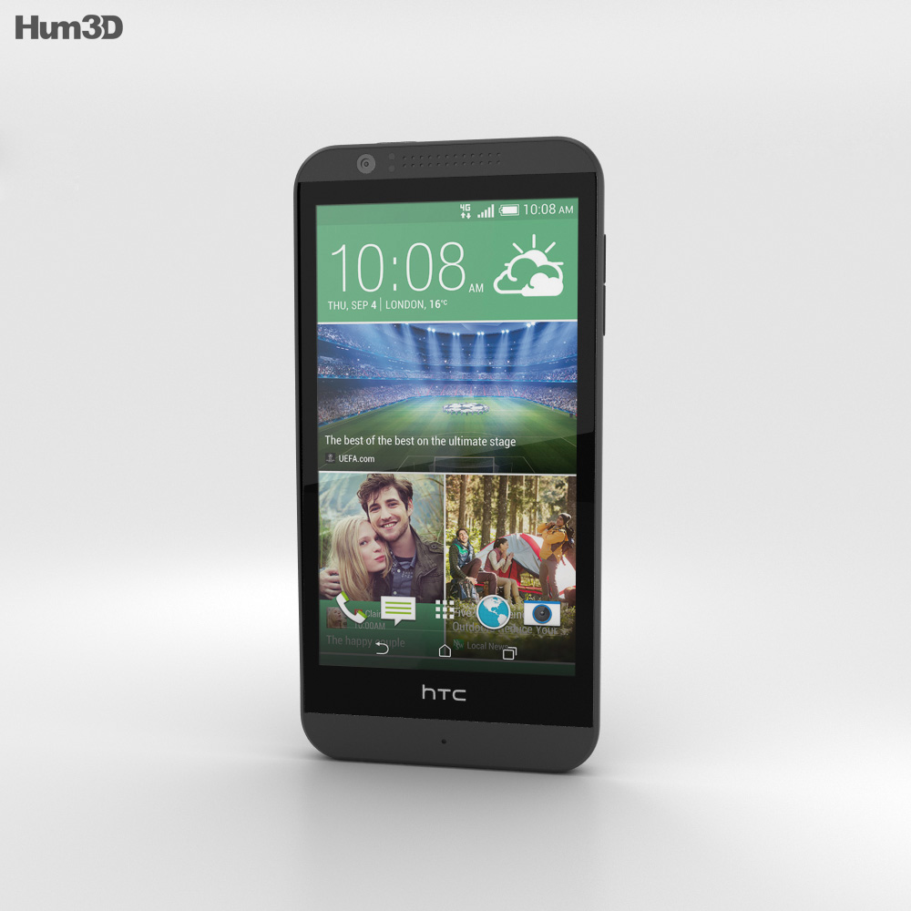 HTC Desire 510 Dark Grey 3d model