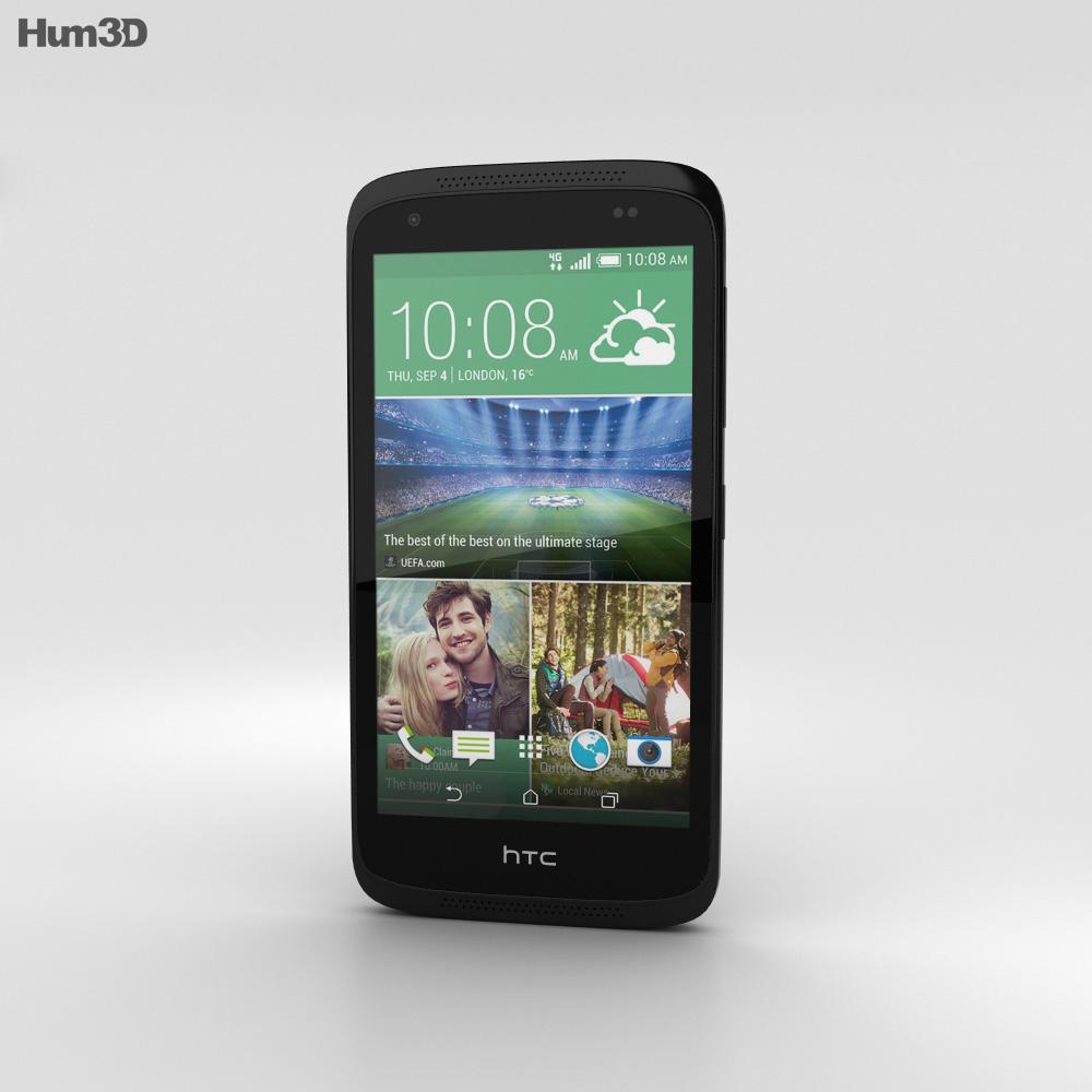 HTC Desire 526G+ Lacquer Black 3d model