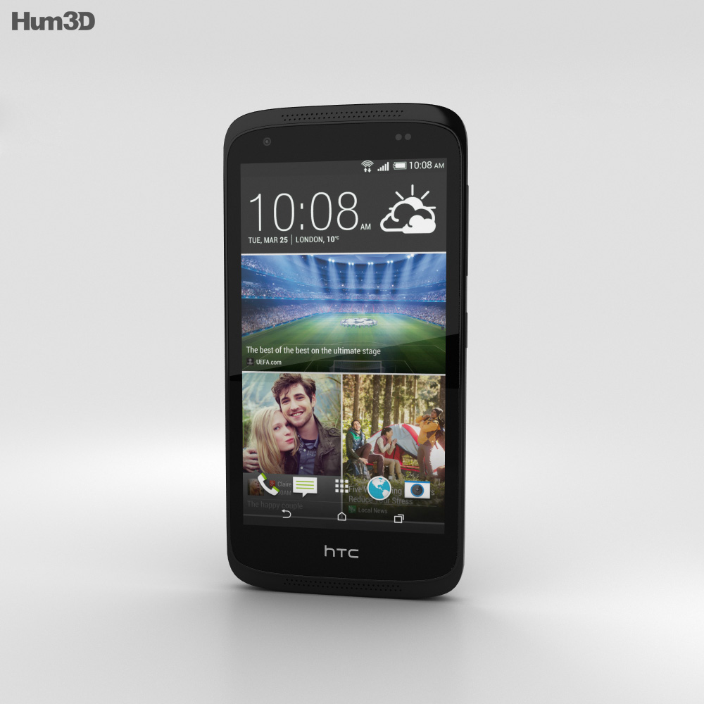 HTC Desire 526G+ Stealth Black 3d model