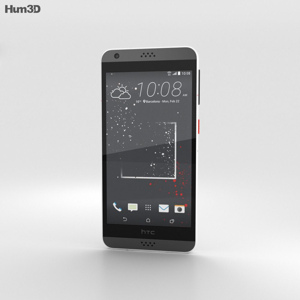 HTC Desire 530 White Splash 3d model