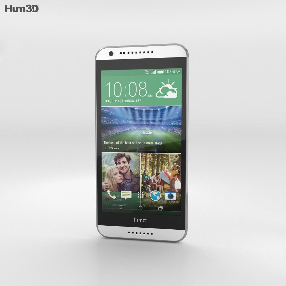 HTC Desire 620G Marble White 3d model