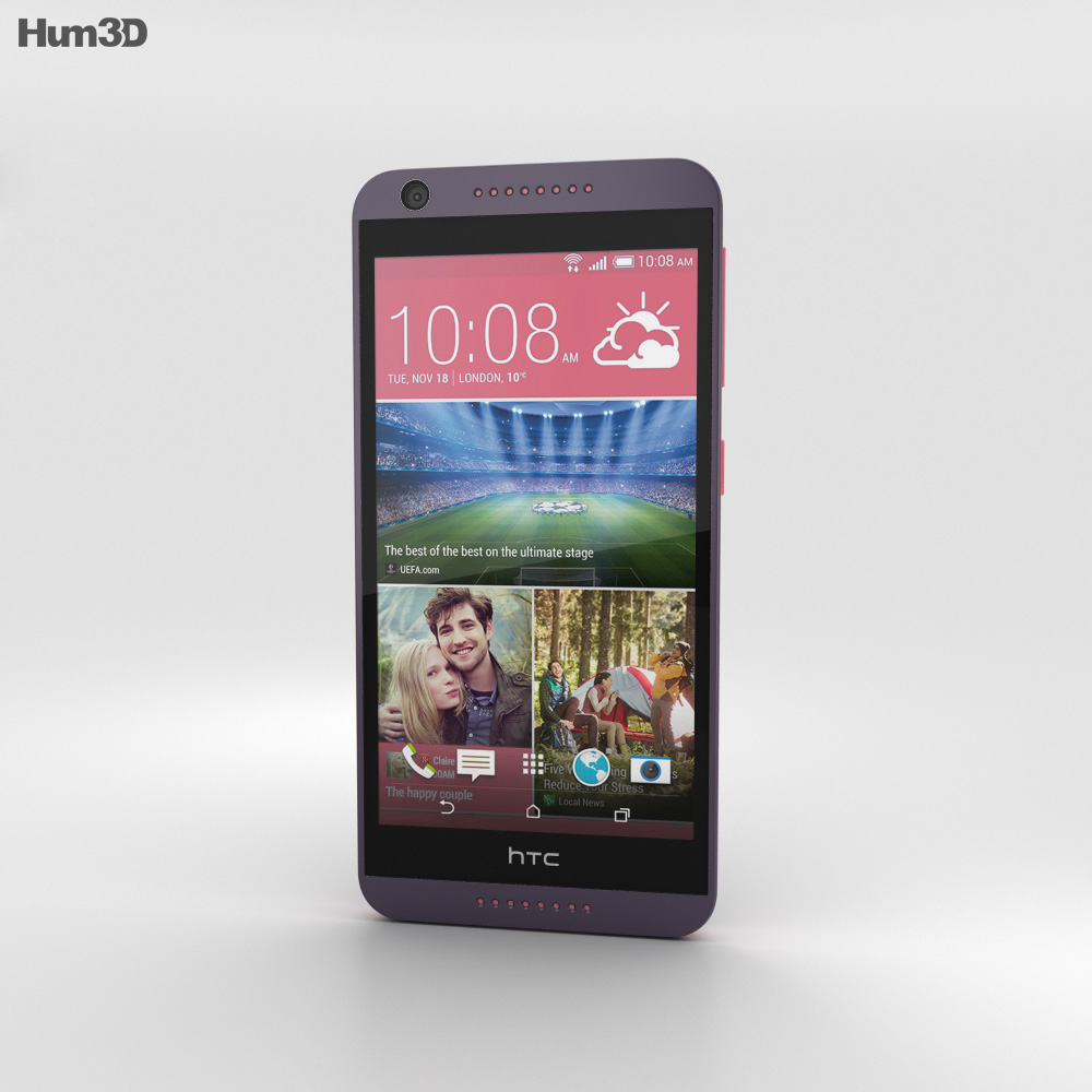 HTC Desire 626 Purple Fire 3d model