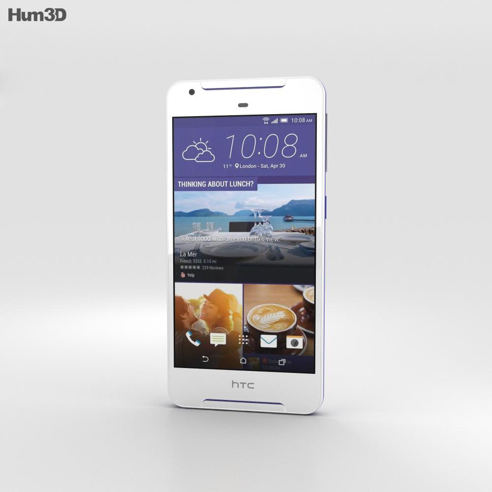 HTC Desire 628 White 3d model
