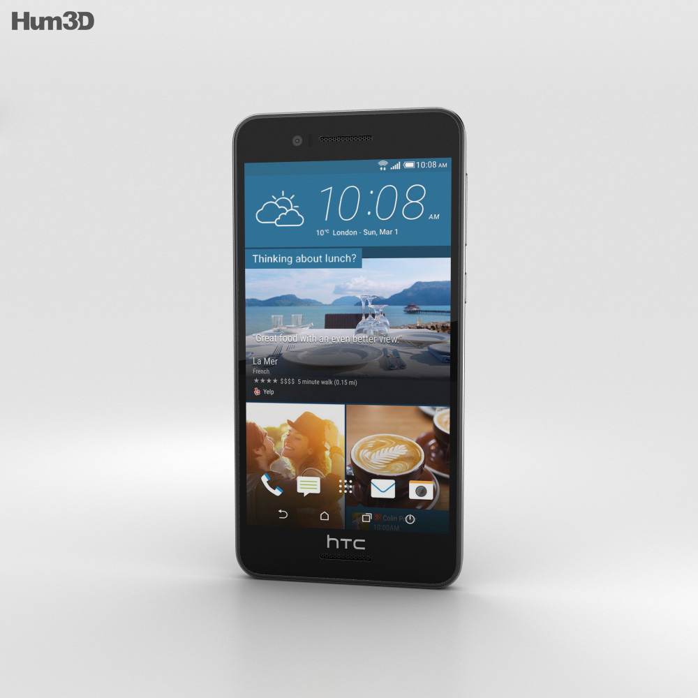 HTC Desire 728 Black 3d model