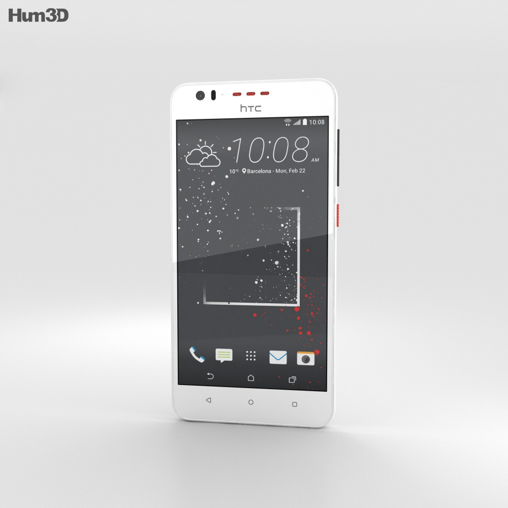 HTC Desire 825 White Splash 3d model