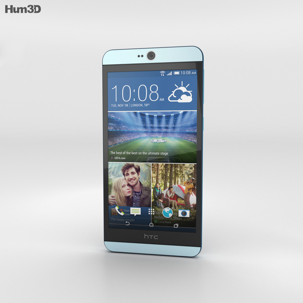 HTC Desire 826 Blue Lagoon 3d model