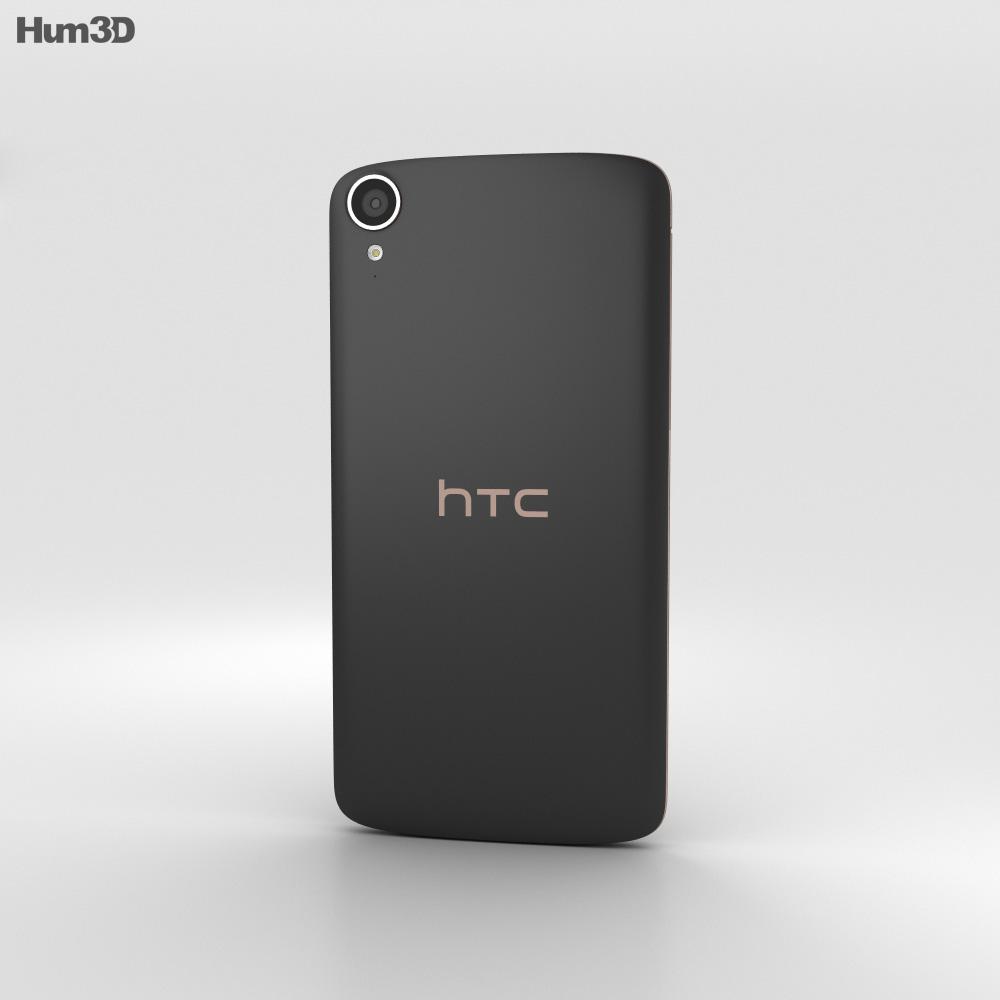 HTC Desire 828 Dual Sim Dark Gray 3d model