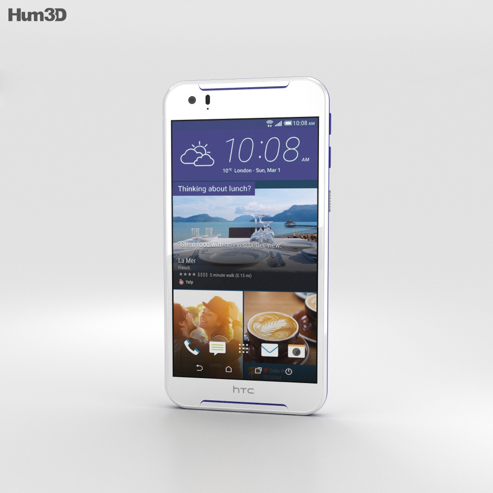 HTC Desire 830 White/Blue 3d model