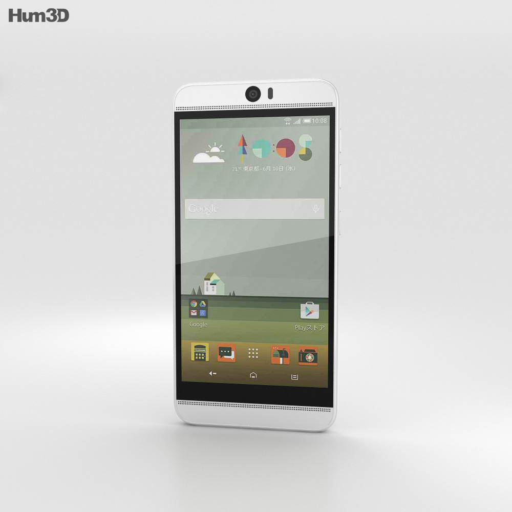 HTC J Butterfly 3 White 3d model