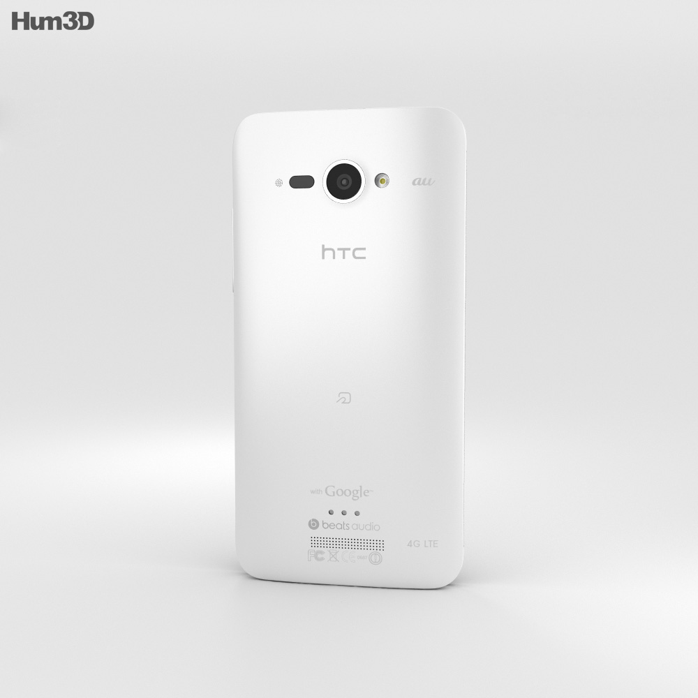 HTC J Butterfly White 3d model