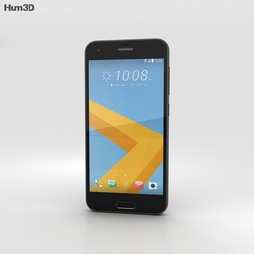 HTC One A9s Black 3d model